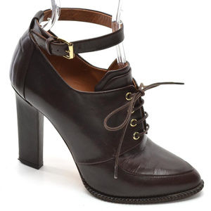 Givenchy Lace Up Ankle Strap Booties Heels size 37
